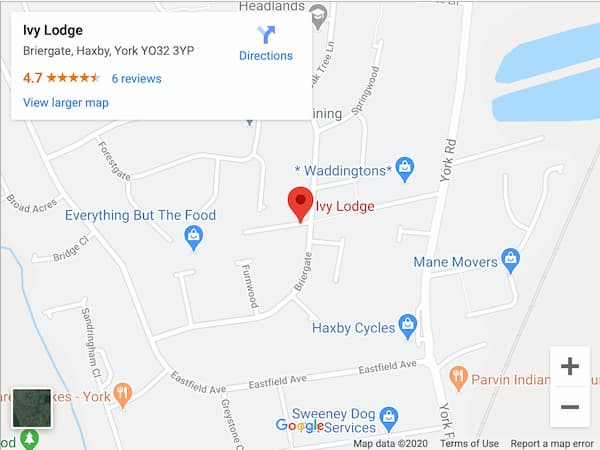 Ivy Lodge Retirement Home - Map